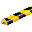 "Protective Corner Bumper Guard - Round, 1-9/16"" x 39-3/8"", Self-Adhesive, Black & Yellow"