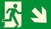 photoluminescent emergency egress signs
