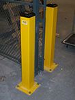 "Square Steel Bolt-Down Bollard, 42""H x 4""W"