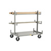 "Cantilever-Style Pipe & Bar Rack - 48"" x 36"" - Wheel Brakes"