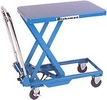 Mobile Lift Table, Single Scissor, 17.7 x 27.6 Platform, 28.8 in. Raised Height, 330 lbs. cap.
