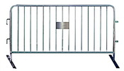 Lightweight Temporary Steel Barrier - 6-1/2 ft., Interlocking, Flat Base Foot, Galvanized
