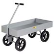 "5th Wheel Wagon - 24"" x 48"" Deck, 6"" Sides, 12"" Mold-on Rubber Wheels, 3500 lb. Cap."