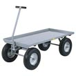 "5th Wheel Wagon - 30"" x 48"" Retaining Lip Deck, 12"" Pneumatic Wheels, 2000 lb. Cap."