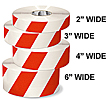 Floor Tape - White with Red, 3-in. x 100-ft.