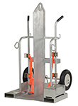 Welding Torch Cylinder Cart - Galvanized Deluxe w/ Pneumatic Wheels
