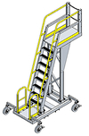 Mobile Cantilever Work Platform - 6 Sq.Ft., 10'H Deck