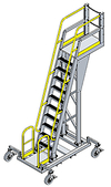 Mobile Cantilever Work Platform - 6 Sq.Ft., 12'H Deck