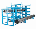 "Single Sided Crank-Out Cantilever Rack - 12' Long w/ 12""H x 20""D Arms, 4 Levels, 13,200 lbs. Cap. Per Level"