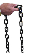 "Heavy Duty Black Plastic Chain - 17'L x 2""Dia."