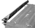 Angle End Stop - for 1.5 in. flange - 24 in OAW.
