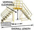 "Crossover - 49"" Vertical x 20"" Horizontal Clearance, 118"" Long Overall"