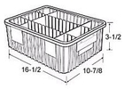 Carton of  12-ea. 16-1/2 x 10-7/8 x 3-1/2 Dividable Grid Containers