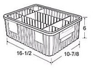 Carton of  8-ea. 16-1/2 x 10-7/8 x 6 Dividable Grid Containers