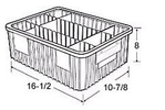 Carton of  8-ea. 16-1/2 x 10-7/8 x 8 Dividable Grid Containers