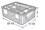 Carton of  6-ea. 22-1/2 x 17-1/2 x 3 Dividable Grid Containers
