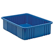 "Dividable Grid Containers - 22-1/2"" x 17-1/2"" x 6"", Carton of 3"