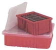 Clear Covers for Models DG 93030, DG 93060, DG 93080, & DG 93120 Dividable Grid Containers - Carton of 3