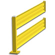 10ft. W x 42 in. H Steel Guard Rail - Double High Adder