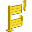 Lift-Out Steel Guard Rail - Double High Adder at 24 inch Post centers