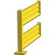 4ft. W x 42 in. H Steel Guard Rail - Double High Adder