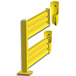 Lift-Out Steel Guard Rail - Double High Adder at 60 inch Post centers