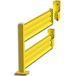 Lift-Out Steel Guard Rail - Double High Adder at 72 inch Post centers