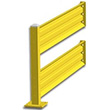 7ft. W x 42 in. H Steel Guard Rail - Double High Adder