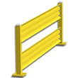 10ft. W x 42 in. H Steel Guard Rail - Double High Starter