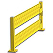Lift-Out Steel Guard Rail - Double High Starter at 108 inch Post centers