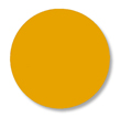 Floor Tape - Dot, Yellow, 3 1/2-in. Dia., Box of 102