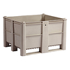 "Box Pallet Container, USDA - 48""W x 40""D x 29""H, Solid Sides, Gray"