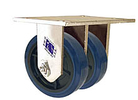 "65 Series Rigid Dual Caster - 6"" x 1-1/2"" Urethane on Plastic Wheels - Ball Bearings - 1,600 lb. Cap."