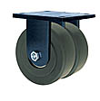 "85 Series Rigid Dual Caster - 10"" x 3"" Nylon Wheels - 10,000 lb. Cap."