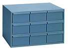 "Modular Cabinet - 17-1/4""W x 11-5/8""D x 10-7/8""H, 9 Steel Drawers"