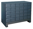 "Modular Cabinet - 34""W x 17-1/4""D x 26-7/8""H, 30 Steel Drawers"