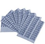 Stainless Steel Labels (4 page set - Silver)