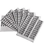 Metric Labels (9 page set - White)