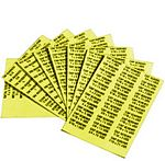 SAE Cap Screw Labels (6 page set - Yellow)