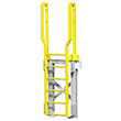 "Modular Ladder - 5 Step, 33""W x 11""D, Stacking Base"