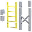 "Modular Ladder - 5 Step, 33""W x 11""D, Stacking Extension"