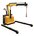 Electric Powered Floor Crane - 2,500 lb. Cap., Adjustable Length and Width Legs