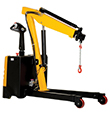 Electric Powered Floor Crane - 2,500 lb. Cap., Adjustable Length Legs