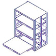 36 x 36 x 72 EZ-Glide Full Extension Roll-Out Shelving - 3 Shelves - Starter