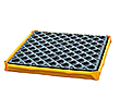 "Low-Profile Flexible Spill Deck, 1-Drum - 24""L x 24""W x 2-1/2""H, Capacity: 1,500 lbs., 5.5 gal."