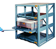 "Heavy-Duty Glide-Out Storage, 3 Shelf - 2,000 lb. Cap., 5' H x 36"" D x 36"" W, 100% Drawer Extension"