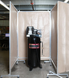 "Vertical Acoustic Screen w/ Casters - 4 Sides, 60""W x 60""L x 96""H"