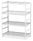 "Horticultural Shelving with Corner Drain - 3 levels, 72""W x 36""D x 96""H"