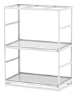 "Horticultural Shelving with Trough Shelf - 2 levels, 72""W x 36""D x 96""H"