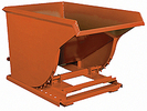 Self-Dumping Hopper: Formed Base, 1/8 Yard Volume Cap., 1,200 lb. Cap.